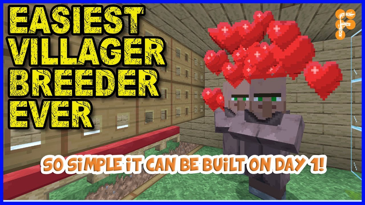 How-to-make-Super-Easy-Villager-Breeder-For-Minecraft-1.14-Tutorial-1.15.2
