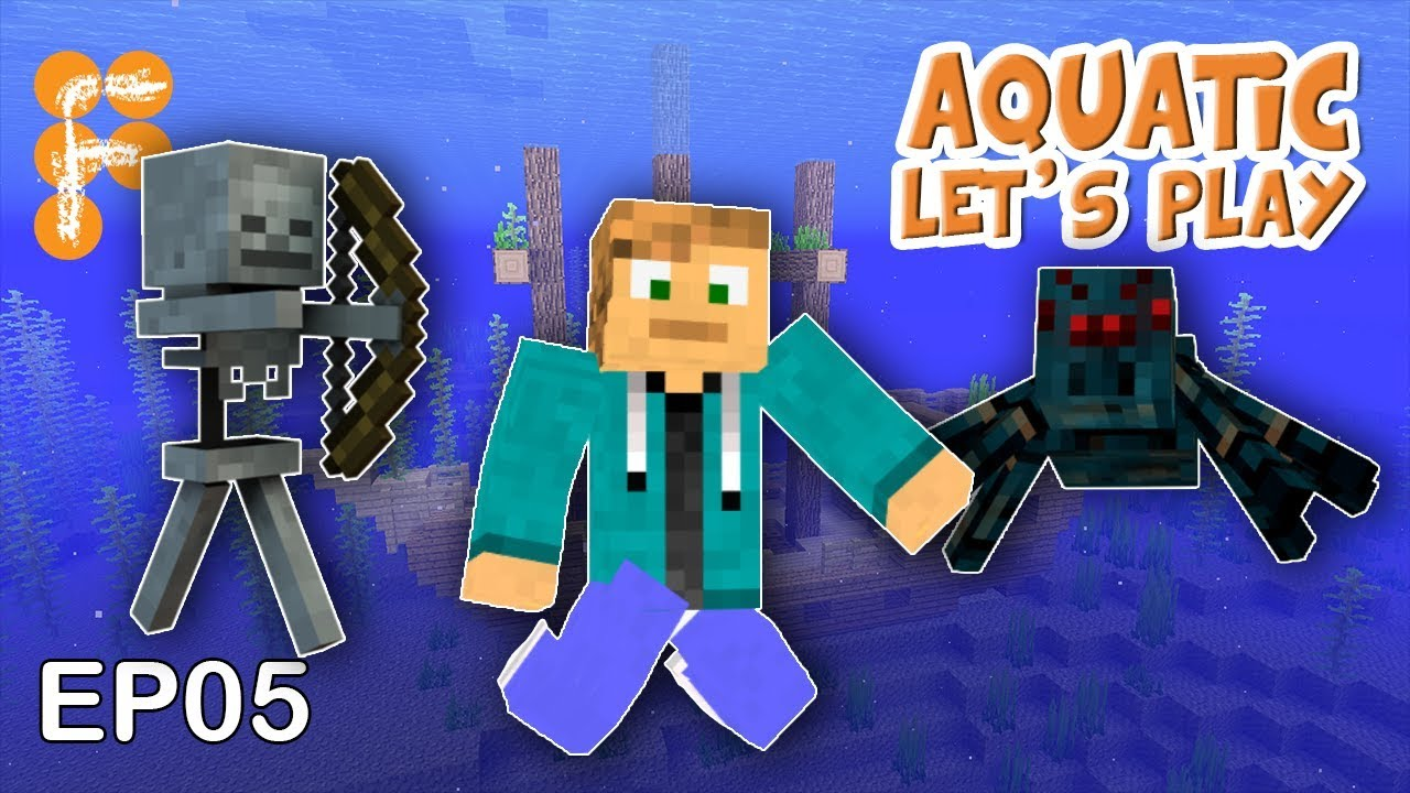 Let39s-Play-Aquatic-EP5-Spider-amp-Skeleton-Farm