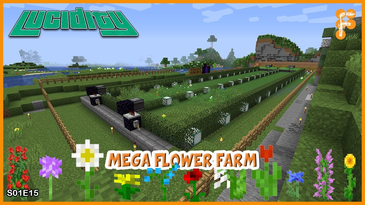 Lucidity-MEGA-FLOWER-FARM-Minecraft-1.15.2-EP-15