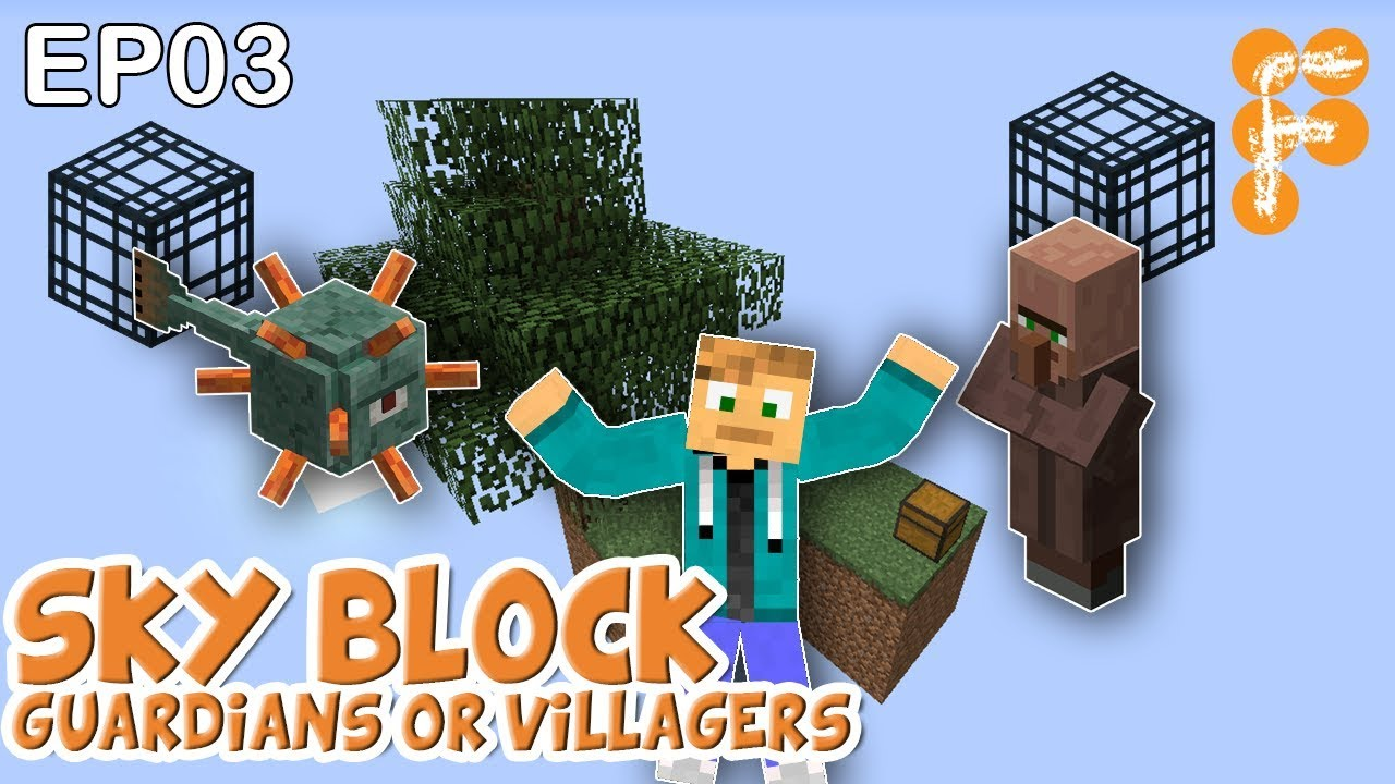 MineSaga-SkyBlock-1.0-EP3-Villager-or-Guardian-Spawners-Which-is-best