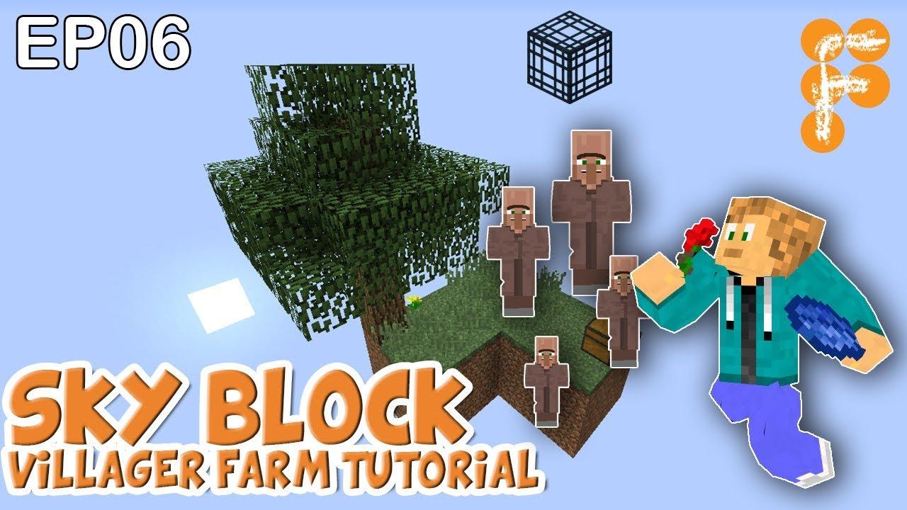 MineSaga-SkyBlock-1.0-EP6-Villager-Farm