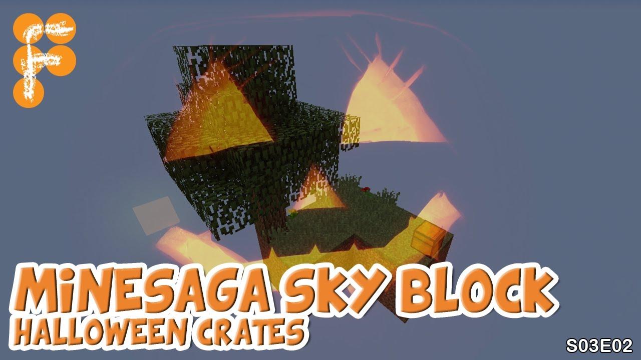 Minesaga-Skyblock-S03E02-Halloween-Crates