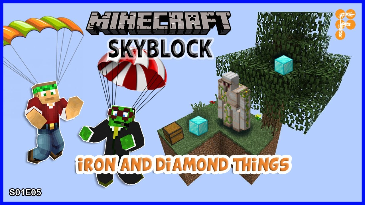 Skyblock-With-BobertPickle.-IRON-AND-DIAMOND-THINGS-Minecraft-1.15.2-EP5