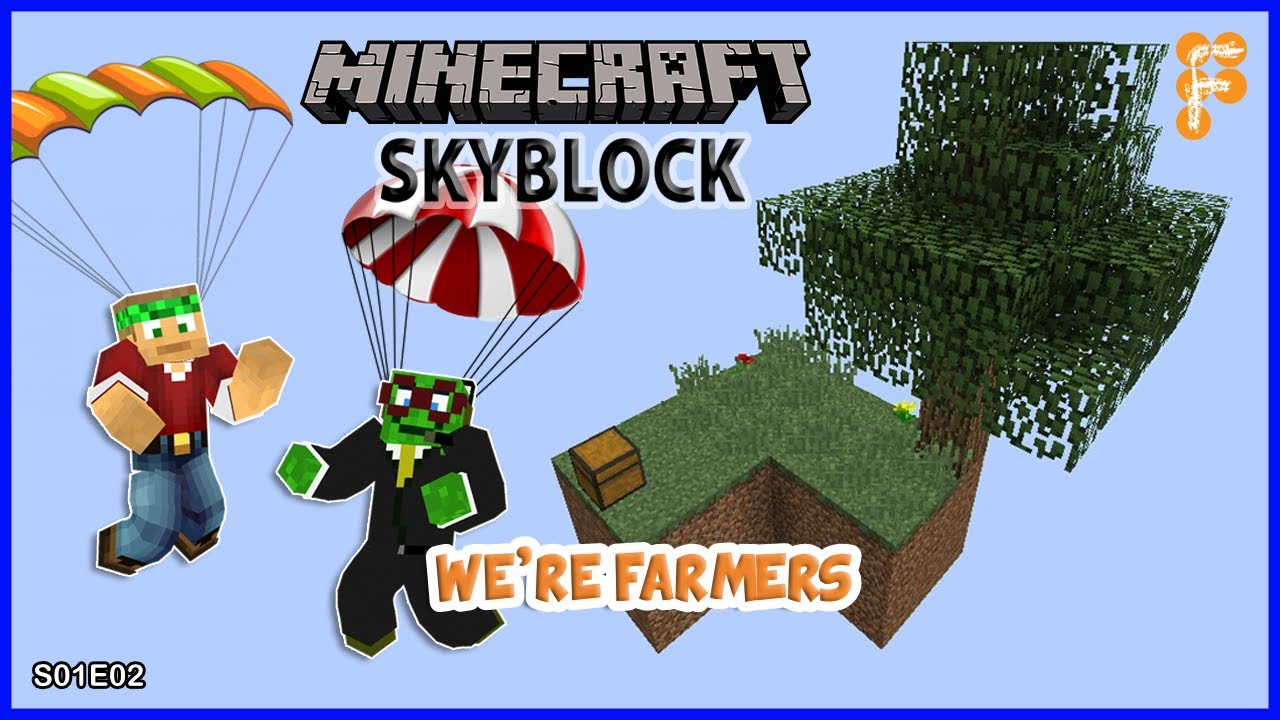 Skyblock-With-BobertPickle.-OUR-FIRST-TWO-FARMS-Minecraft-1.15.2-EP2