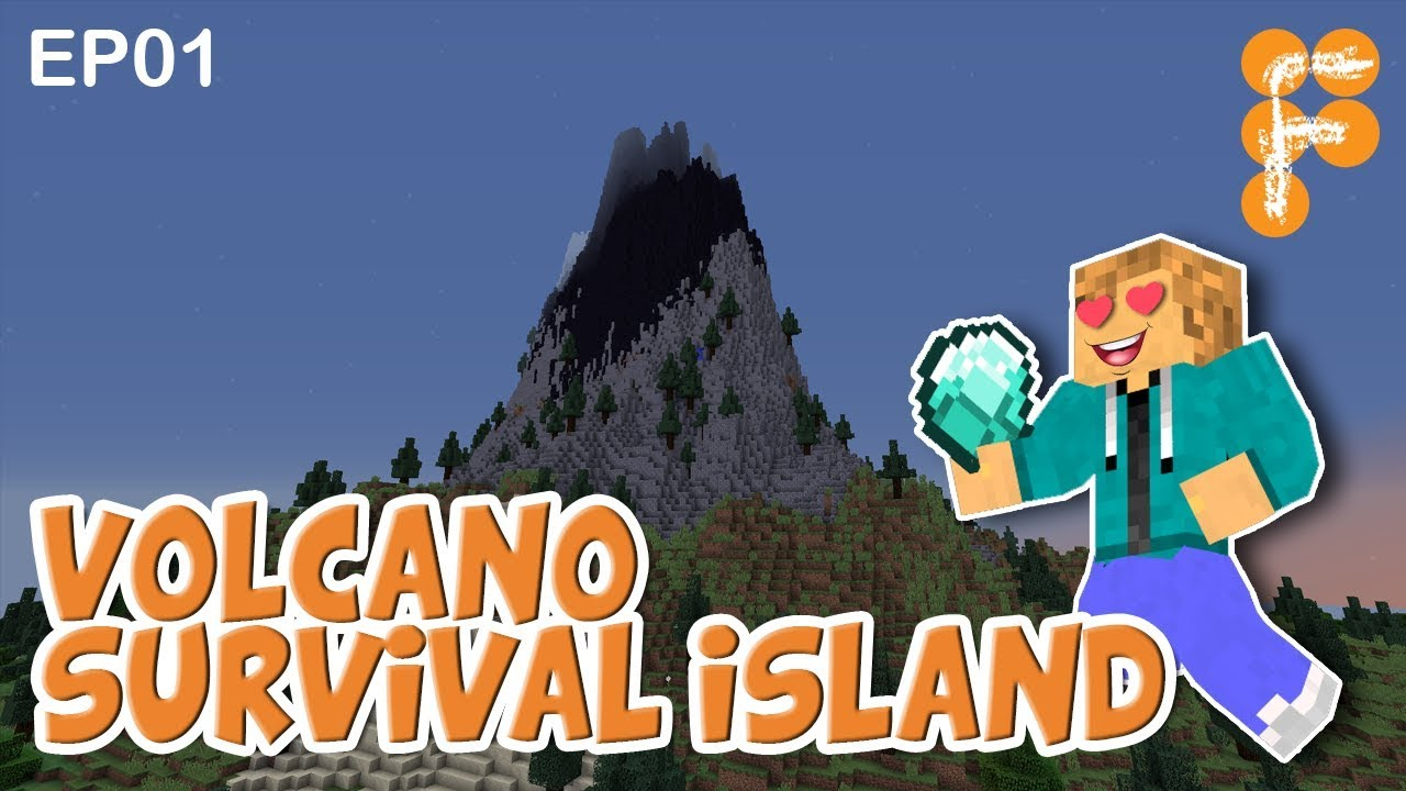 Volcano-Survival-Island-EP1-Let39s-Play-Minecraft-Survival