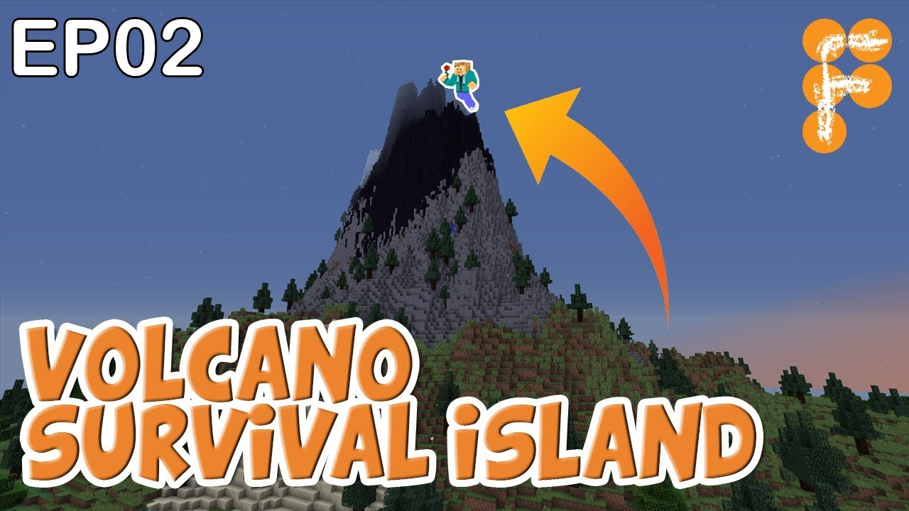 Volcano-Survival-Island-EP2-Let39s-Play-Minecraft-Survival