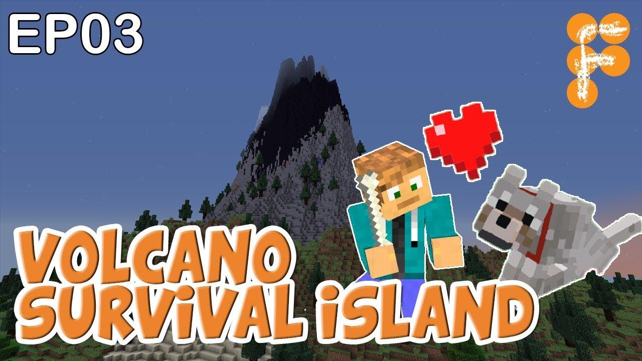 Volcano-Survival-Island-EP3-Let39s-Play-Minecraft-Survival