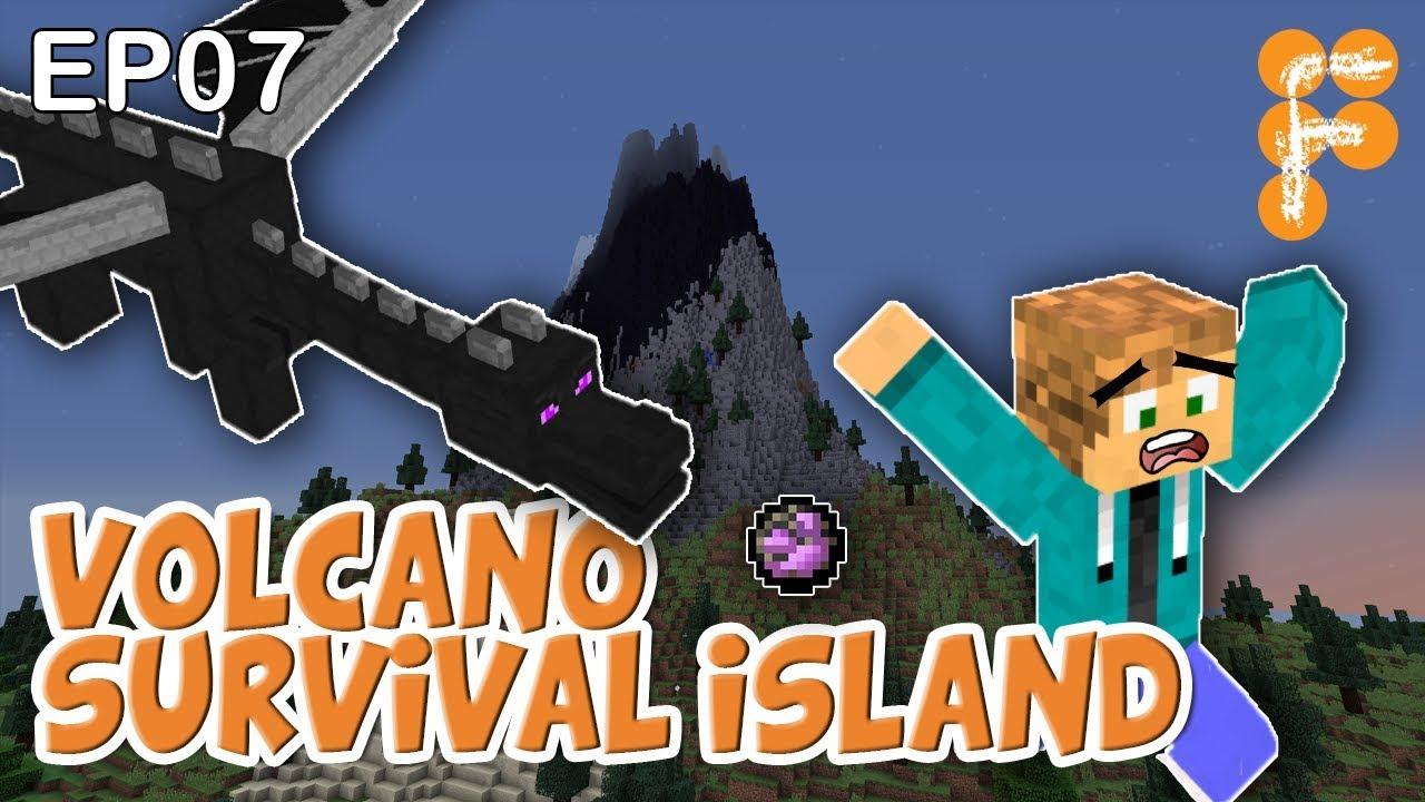 Volcano-Survival-Island-EP7-Lets-play-Minecraft-Survival