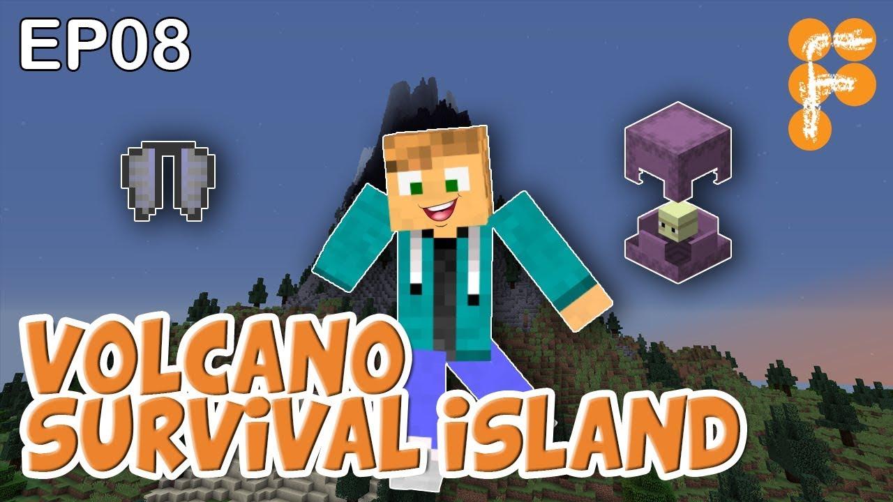 Volcano-Survival-Island-EP8-Lets-play-Minecraft-Survival
